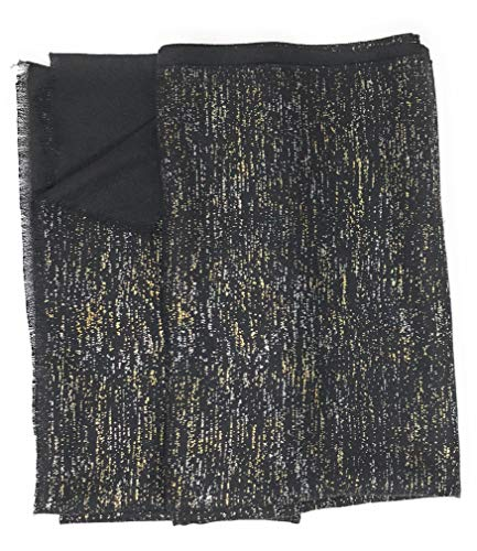 "100% Cashmere Printed Sparkle Glitter Look Scarf 24""x76"" with Gift Bag"
