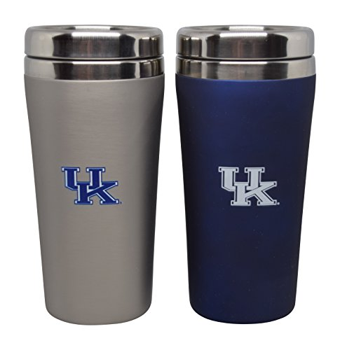 Gift Set of 2 16 Ounce Stainless Steel Tumbler Set for NCAA University of Kentucky Wildcats