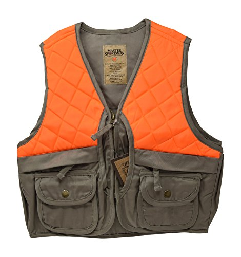 Sportsman Blaze Orange and Tan Youth Kids Field Shell Hunting Vest Fits Snug