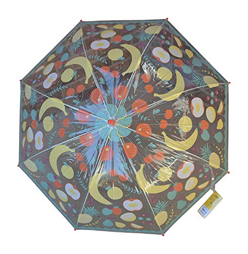 Small Clear With Fun Print Umbrella for Kids