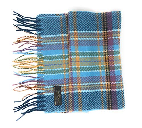 100% Cashmere Plaid Scarf with Gift Bag - Men Cashmere - Cashmere Women