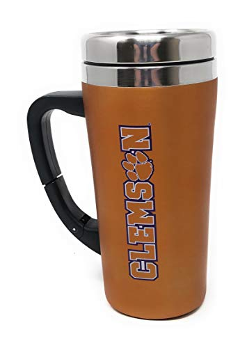 Stainless Steel Thermal Travel Mug with Belt Clip Adjustable Handle Screw