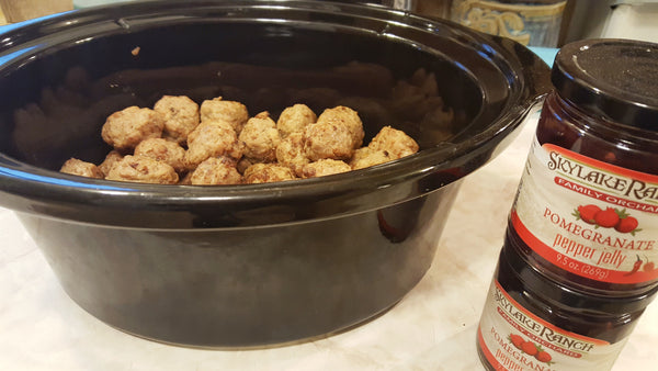 If you've ever made the classic crock pot meatballs with the grape jelly, these are the evil genius to them
