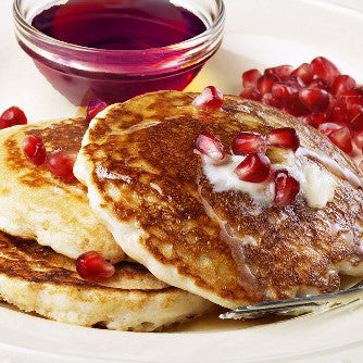 Chocolate Chip Pomegranate Pancakes