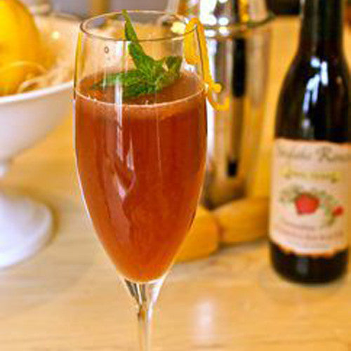 Sparkling Pomegranate Mint Lemonade