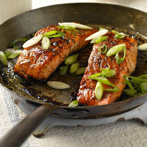 Marinated Salmon With Edamame Puree