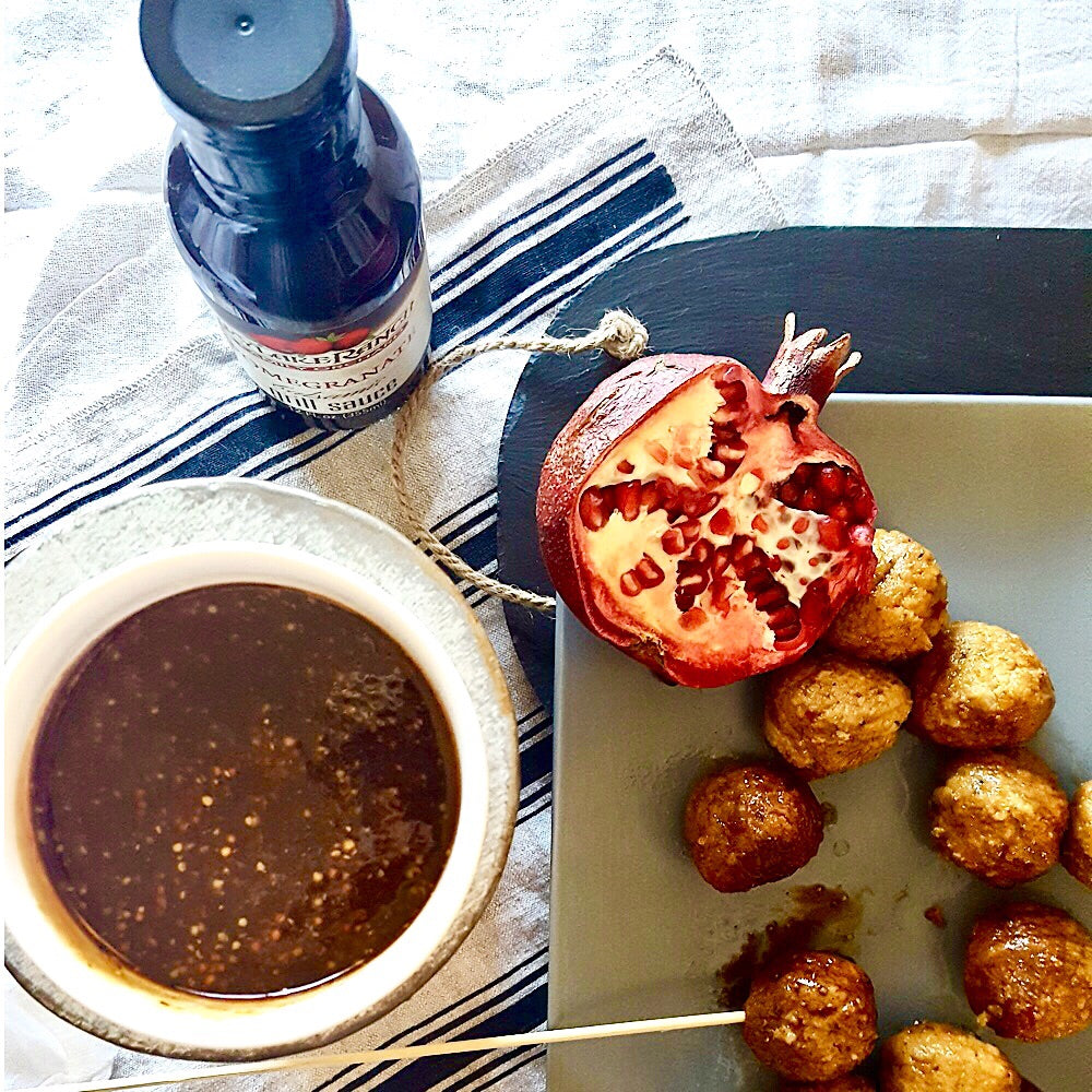 Pomegranate Balsamic Mustard Dipping Sauce