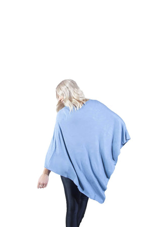 Blue Grey Nursing Poncho