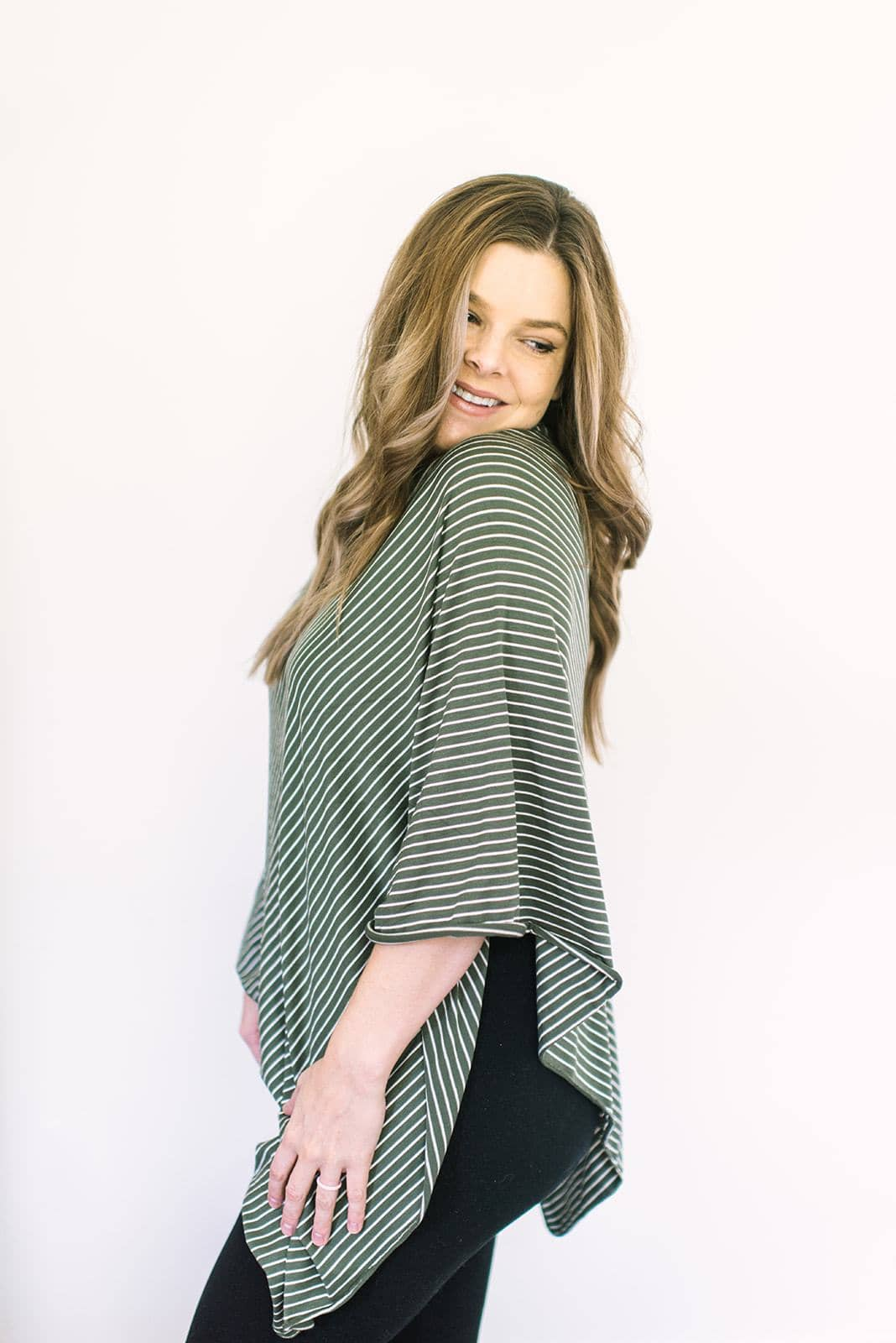 Olive Green Stripe