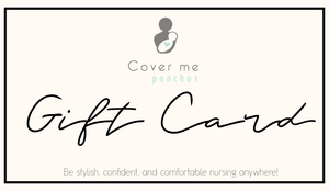 Cover Me Ponchos Gift Card