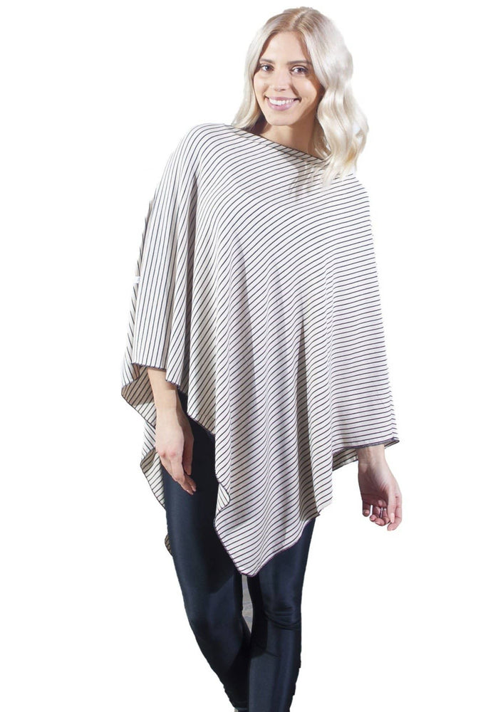 Cream Zebra nursing poncho