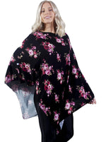 Midnight Floral nursing poncho