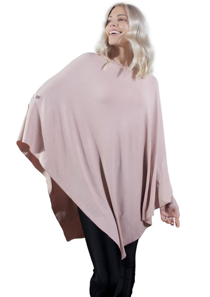 Misty Rose nursing poncho