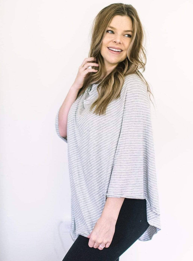 Willow Gray Stripe Nursing Poncho nursing poncho