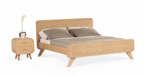 Cama Queen Abner, Roble