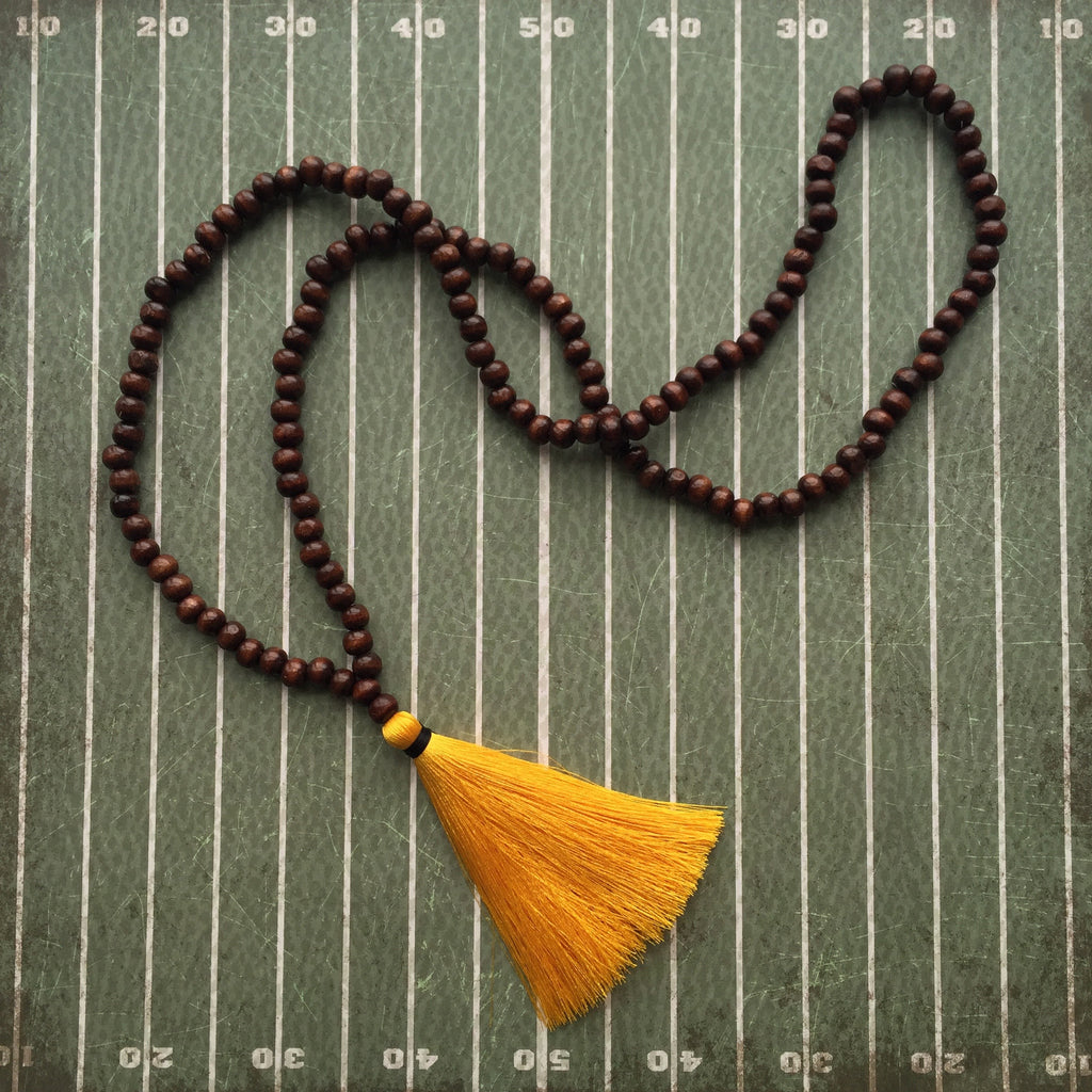 Yellow and Black Gameday Necklace
