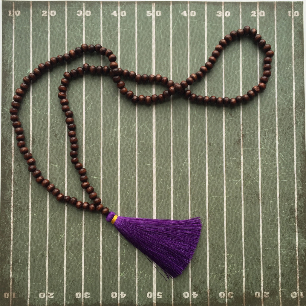 Purple and Gold Gameday Necklace