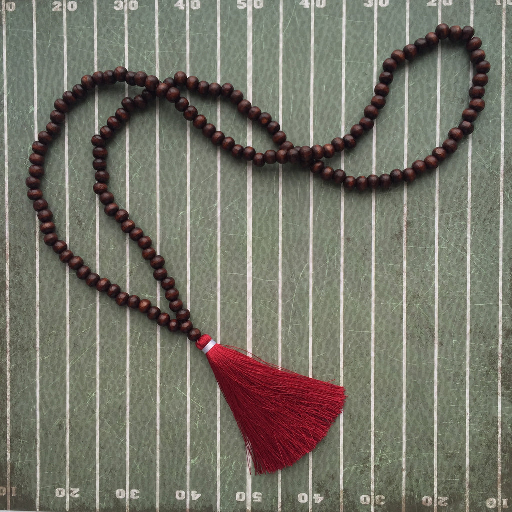 Crimson and White Gameday Necklace