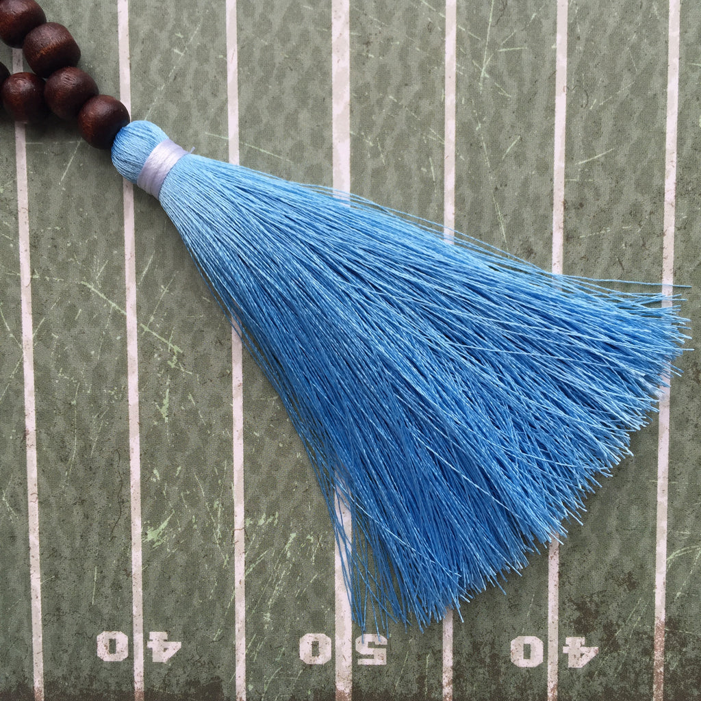 Light Blue and White Gameday Necklace