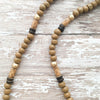 brown coconut spike beaded necklace