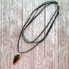 Triple wrap black or tan suede leather choker