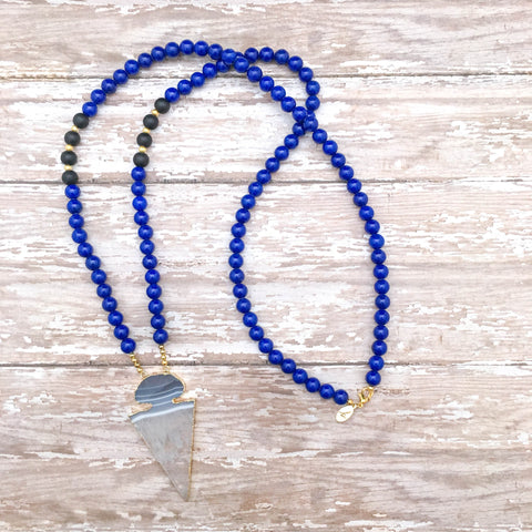 The Elite Light Blue & White Gameday Necklace