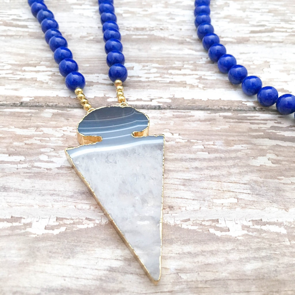 The Elite Blue & Black Gameday Necklace