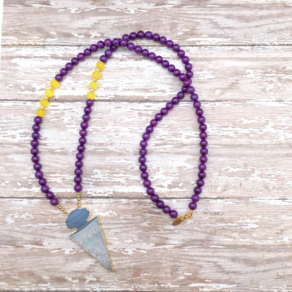 The Elite Purple & Gold Gameday Necklace