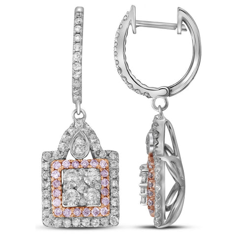 1.38CTW PINK DIAMOND FASHION EARRING #109393200 - C Diamond King