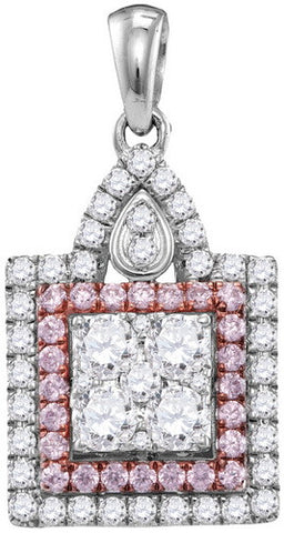 1.04CTW PINK DIAMOND FASHION PENDANT #109394300 - C Diamond King