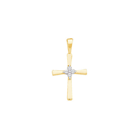 0.05CTW DIAMOND CROSS PENDANT #16310300 - C Diamond King