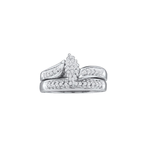 Cluster Bridal Set with 0.25 Carat TW #24158100 - C Diamond King