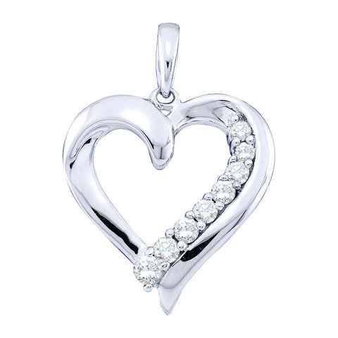 0.25CT DIAMOND HEART PENDANT #45153300 - C Diamond King