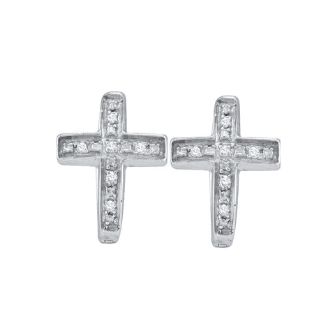 0.05CT DIAMOND CROSS EARRING #46784200 - C Diamond King