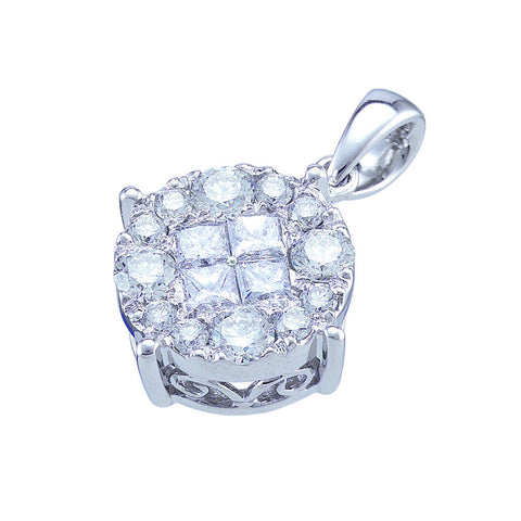 1.00CTW DIAMOND SOLIEL PENDANT #48776300 - C Diamond King