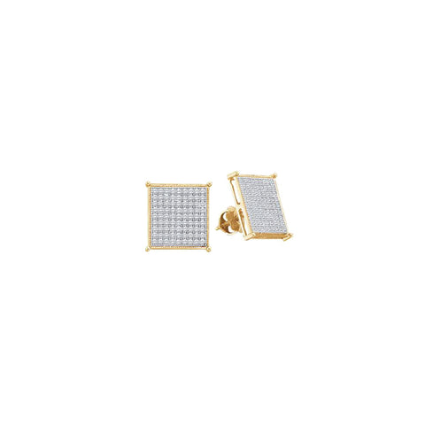 0.15CTW DIAMOND LADIES MICRO PAVE EARRINGS #50436200 - C Diamond King
