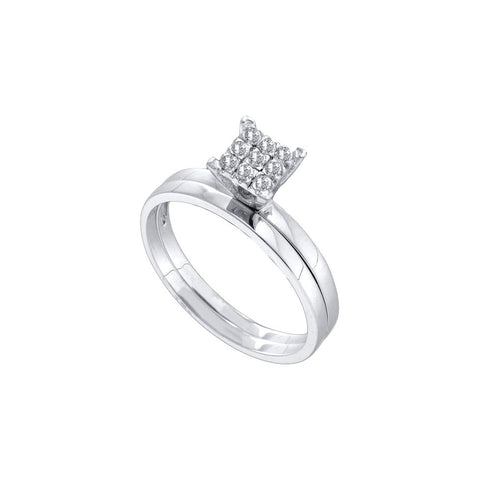 Bridal Set with 0.11 Carat TW  #51022100 - C Diamond King