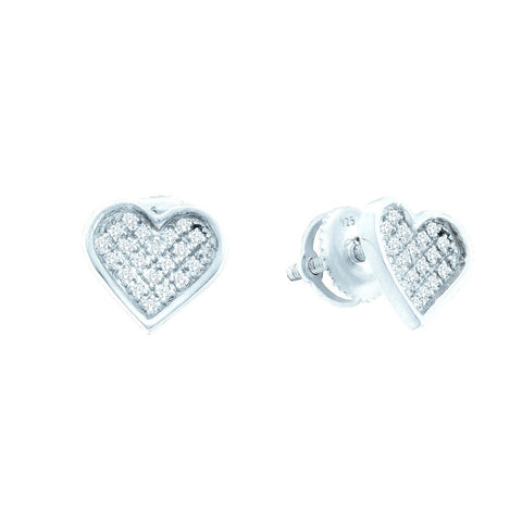 0.10CTW DIAMOND HEART EARRINGS #57614200 - C Diamond King