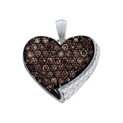0.85CTW COGNAC DIAMOND LADIES HEART  PENDANT #60464300 - C Diamond King