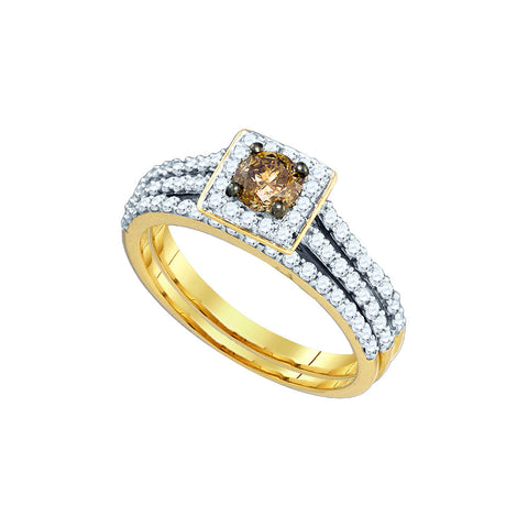 Cognac Bridal Set with 1.01 Carat TW  #80385100 - C Diamond King