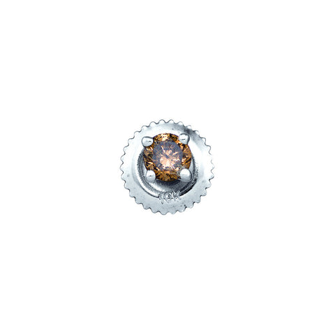 0.26CTW COGNAC DIAMOND STUD EARRING #82793200 - C Diamond King