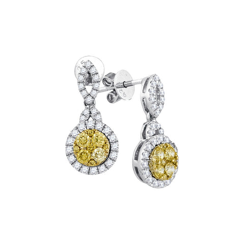 0.90CTW NATURAL YELLOW DIAMOND FASHION EARRINGS #91487200 - C Diamond King