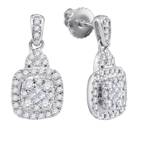 0.47CTW DIAMOND FASHION EARRINGS #99792200 - C Diamond King