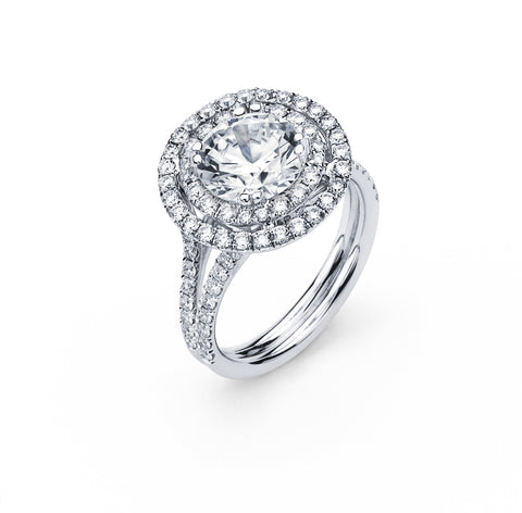 Engagement Ring with 1.97 Carat TW in Gold/Platinum #LR-5978100 - C Diamond King