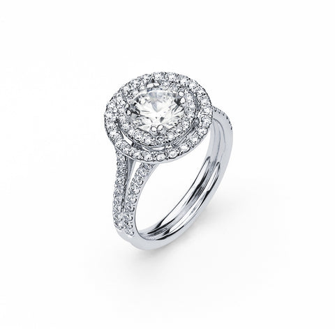 Engagement Ring with 1.54 Carat TW in Gold/Platinum #LR-5979100 - C Diamond King