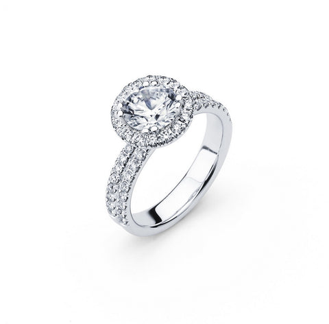 Engagement Ring  with 1.37 Carat TW in Gold/Platinum  #LR-5982100 - C Diamond King