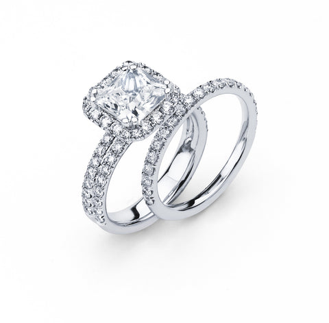 Bridal Set with 1.80 Carat TW in Gold/Platinum #LR-6008100 - C Diamond King