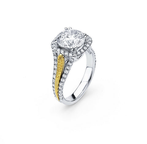 Engagement Ring with 1.25 Carat TW in Gold/Platinum  #LR-6092100 - C Diamond King