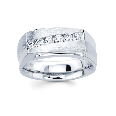 Men's Diamond Ring With 0.10 Carat TW #MR-1910150 - C Diamond King