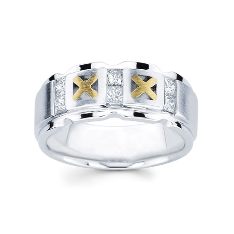 Men's Diamond Ring With 0.60 Carat TW #MR-3896150 - C Diamond King